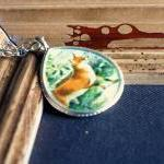 Red Fox Pendant Necklace