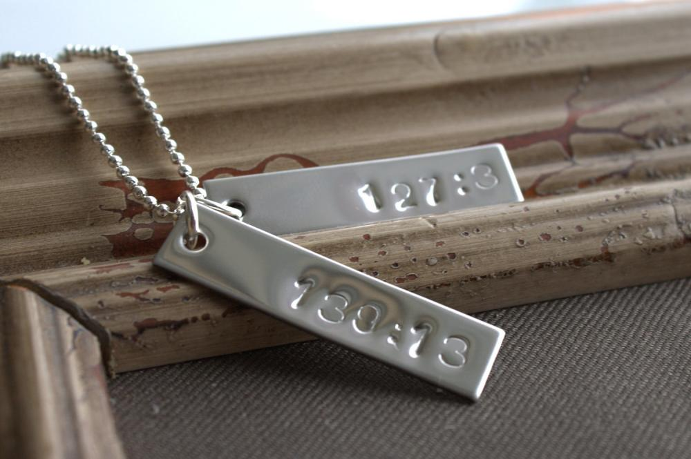Personal Bible Verse Necklace